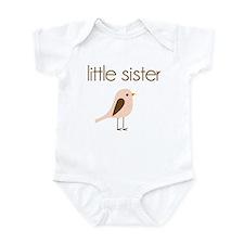 little sister t-shirt birdie modern Infant Bodysui