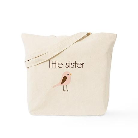 little sister t-shirt birdie modern Tote Bag