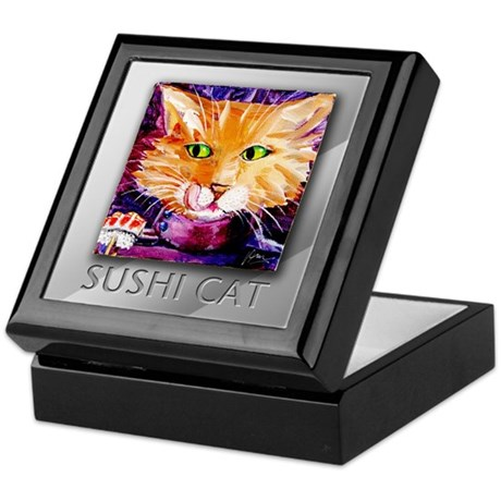 Sushi Cat Keepsake Box