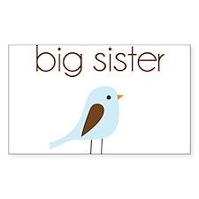 mod big sister t-shirt birdie Rectangle Decal
