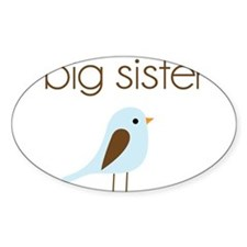 mod big sister t-shirt birdie Oval Decal
