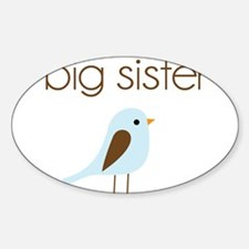 mod big sister t-shirt birdie Oval Decal