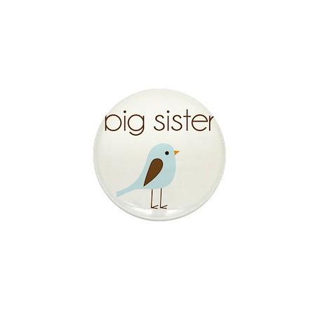mod big sister t-shirt birdie Mini Button
