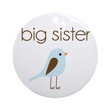 mod big sister t-shirt birdie Ornament (Round)