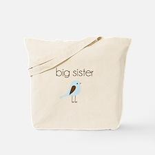 mod big sister t-shirt birdie Tote Bag