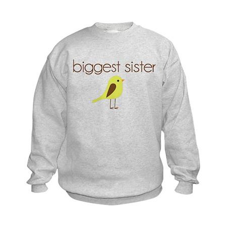 mod biggest sister t-shirt birdie Kids Sweatshirt