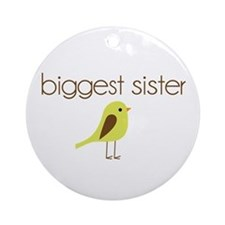 mod biggest sister t-shirt birdie Ornament (Round)