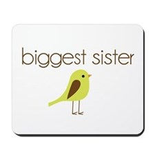 mod biggest sister t-shirt birdie Mousepad