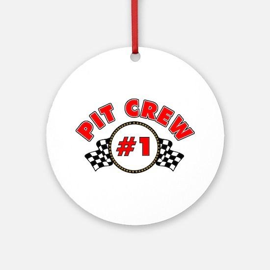 #1 Pit Crew Ornament (Round)
