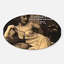 Voltaire: Seduction Victory Oval Decal