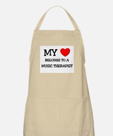 My Heart Belongs To A MUSIC THERAPIST BBQ Apron