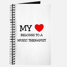 My Heart Belongs To A MUSIC THERAPIST Journal