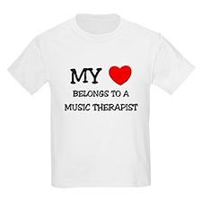 My Heart Belongs To A MUSIC THERAPIST T-Shirt