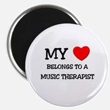 My Heart Belongs To A MUSIC THERAPIST Magnet