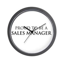 Proud Sales Manager Wall Clock