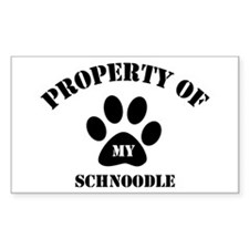 My Schnoodle Rectangle Decal