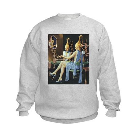 Vintage Science Fiction Kids Sweatshirt