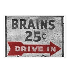 Brains 25 cents Postcards (Package of 8)