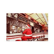 Cute Santa claus jersey Rectangle Magnet