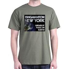 binghamton new york - greatest place on earth T-Shirt