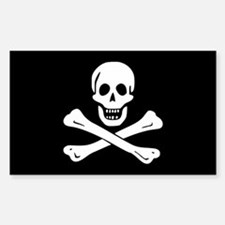 Edward England Jolly Roger Rectangle Decal