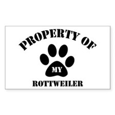 My Rottweiler Rectangle Decal