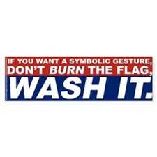 Dont' Burn The Flag, Wash It.