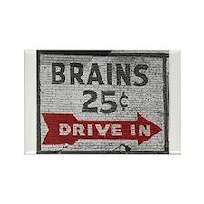 Brains 25 Cents Rectangle Magnet