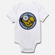 Weightlifter Flex Logo Infant Bodysuit