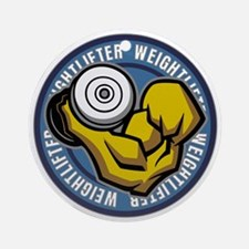 Weightlifter Flex Logo Round Ornament