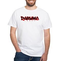 3 Daruma White T (Black & Red Design)