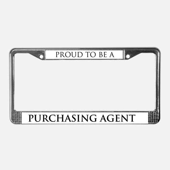Proud Purchasing Agent License Plate Frame