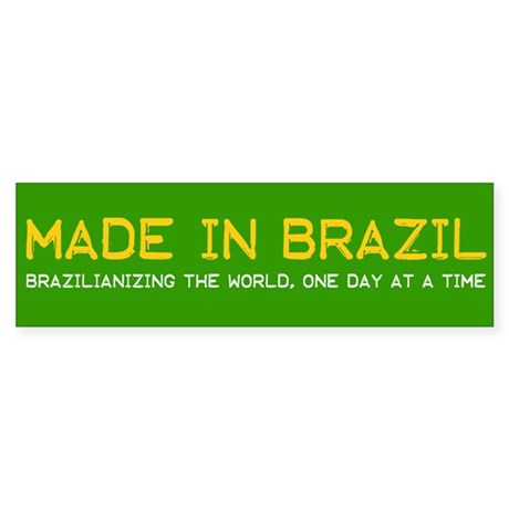 Green Made In Brazil Bumper Sticker