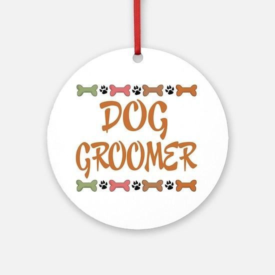 Cute Dog Groomer Ornament (Round)