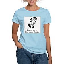 Polish Lowland Sheepdog Women's Pink T-Shirt