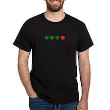 Green, Green, Green, Red Dot Dark Fringe T Shirt