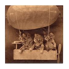 Kittens in Flight Tile Coaster