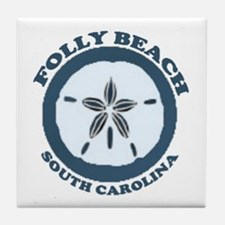 Folly Beach SC Tile Coaster