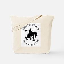 Save a Horse Ride a Cowboy Tote Bag