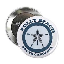 """Folly Beach SC 2.25"""" Button"""