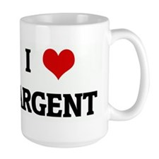I Love ARGENT Ceramic Mugs