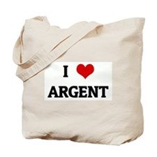 I Love ARGENT Tote Bag