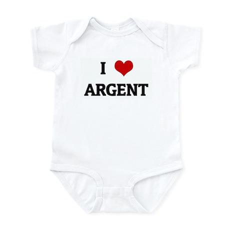 I Love ARGENT Infant Bodysuit
