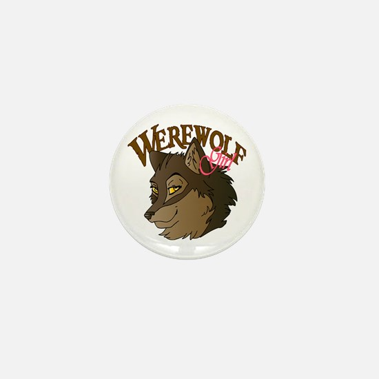 Werewolf Girl Mini Button