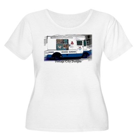 ice Cream Man Women's Plus Size Scoop Neck T-Shirt