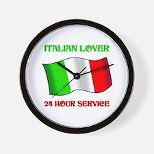 Italian Lover 24 Hour Service Wall Clock