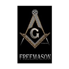 Wood, metal, tile Masonic Rectangle Sticker