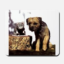 Border Terrier and Rat Mousepad