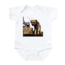 Border Terrier and Rat Infant Bodysuit