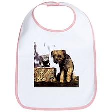 Border Terrier and Rat Bib